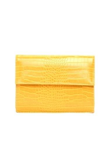 Divarese Clutch / El Çantası Sarı